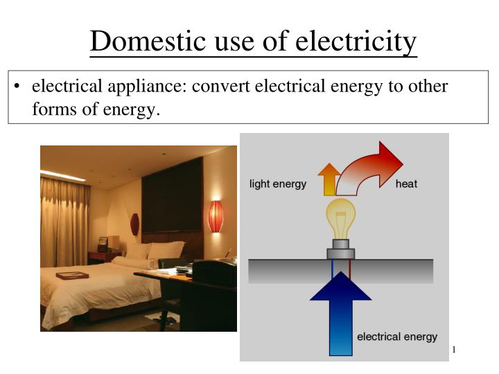 domestic use of electricity n.