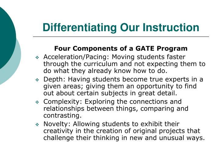 Differentiating Our Instruction