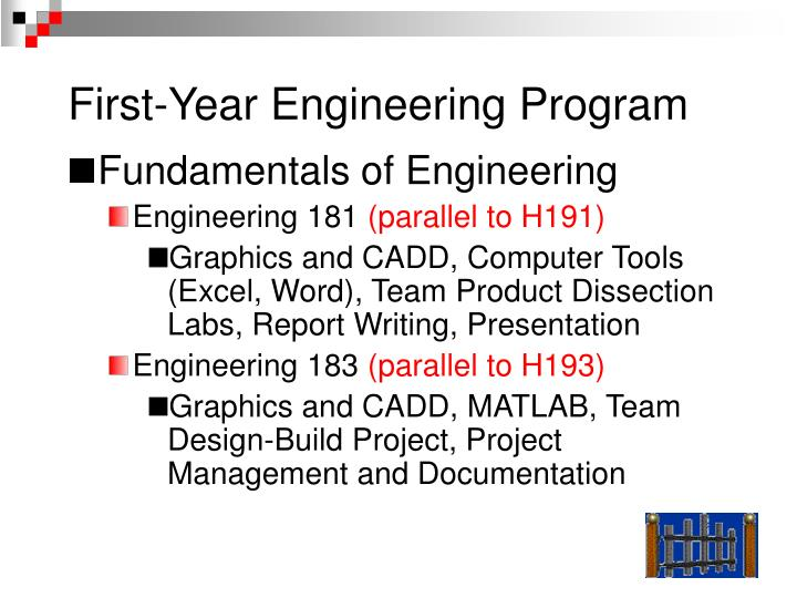 First-Year Engineering Program