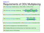 requirements of odu multiplexing