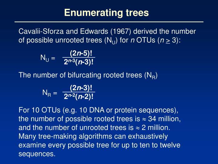 Enumerating trees