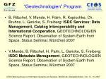 geotechnologien program