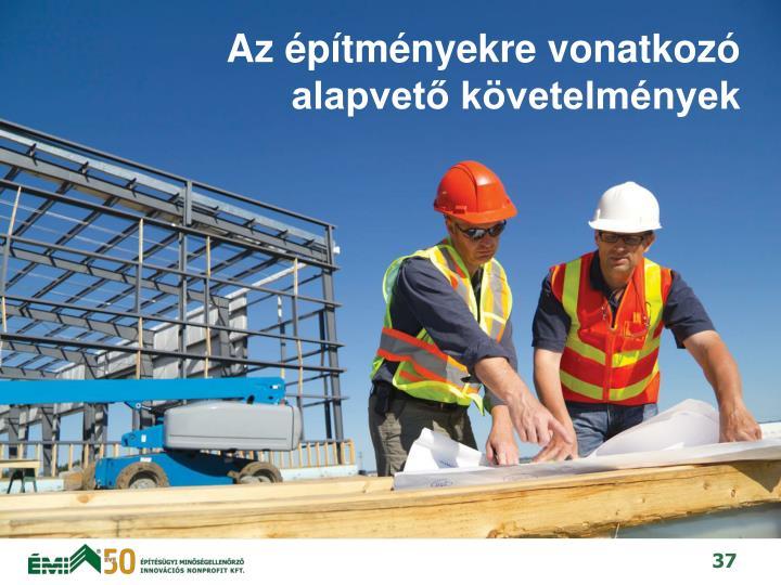 Az építményekre vonatkozó