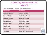 operating system product mac os