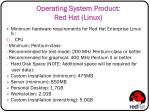operating system product red hat linux2