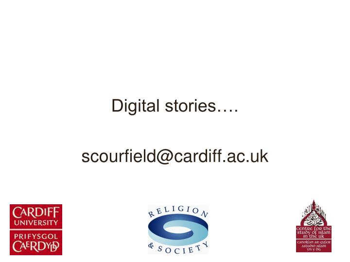 Digital stories….