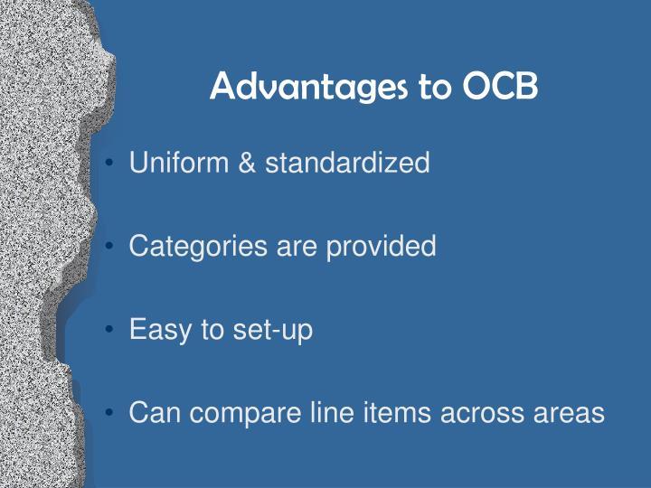 Advantages to OCB
