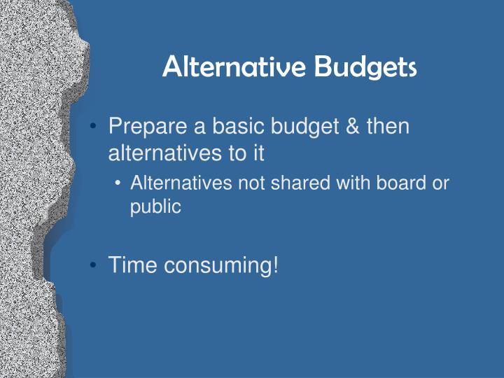 Alternative Budgets