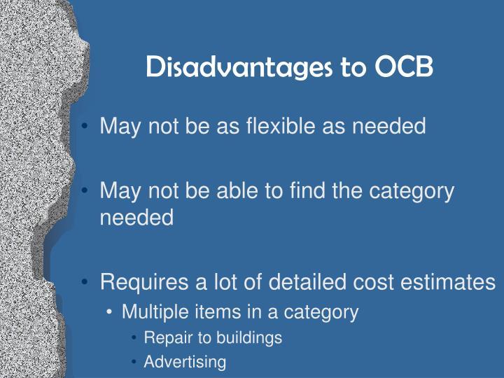 Disadvantages to OCB