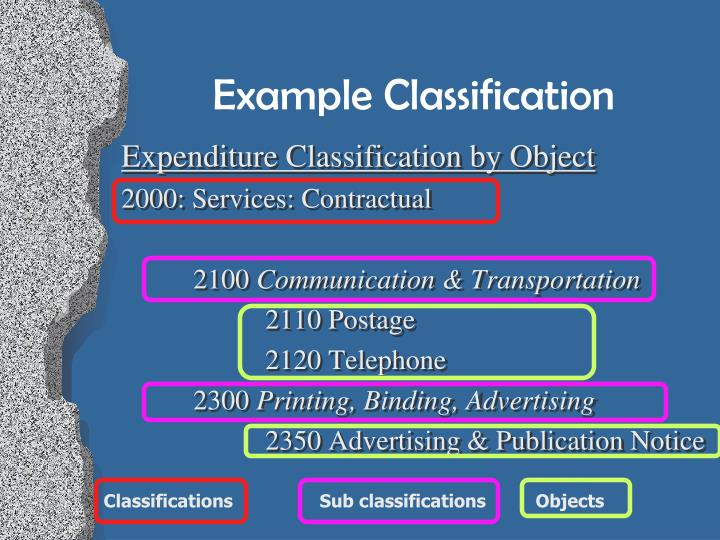 Example Classification
