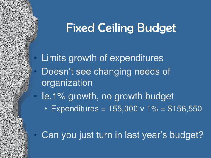 Fixed Ceiling Budget