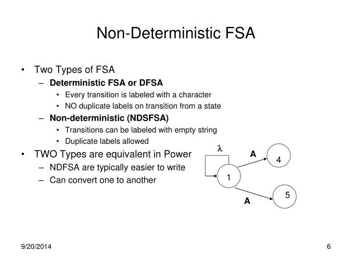 Non-Deterministic FSA