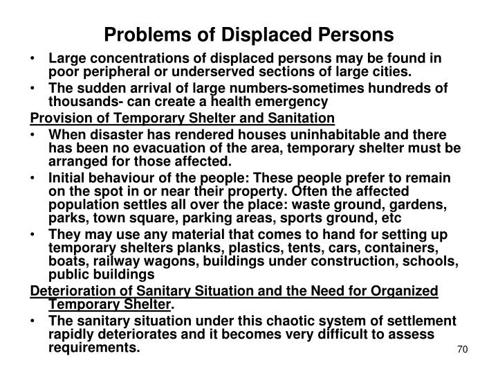 Problems of Displaced Persons