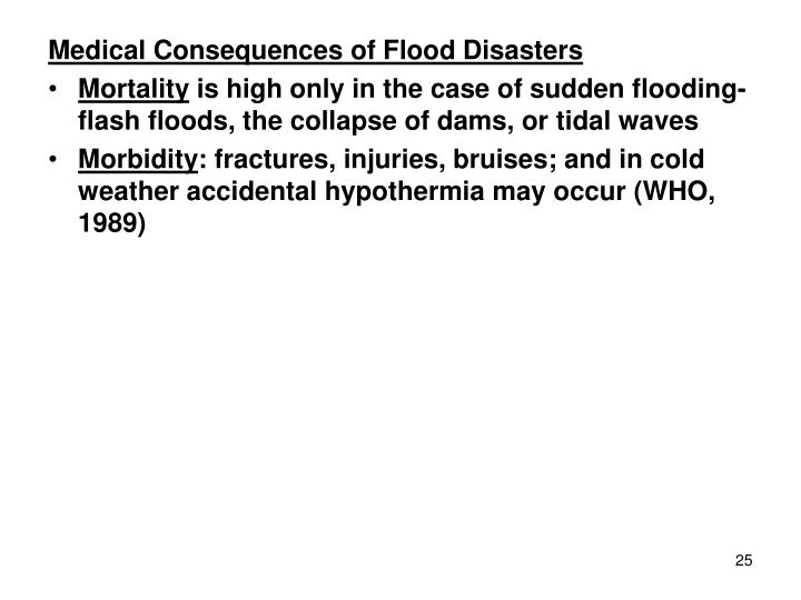 Medical Consequences of Flood Disasters