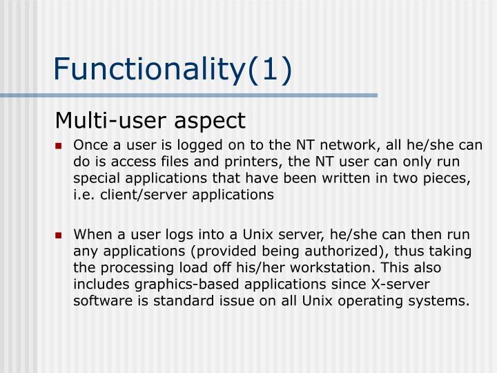 Functionality(1)