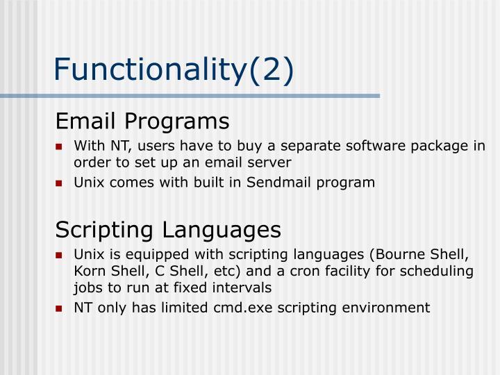 Functionality(2)