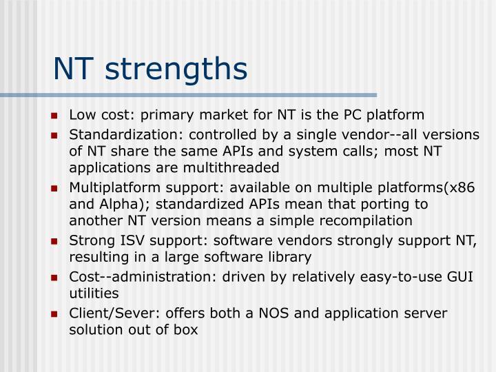 NT strengths