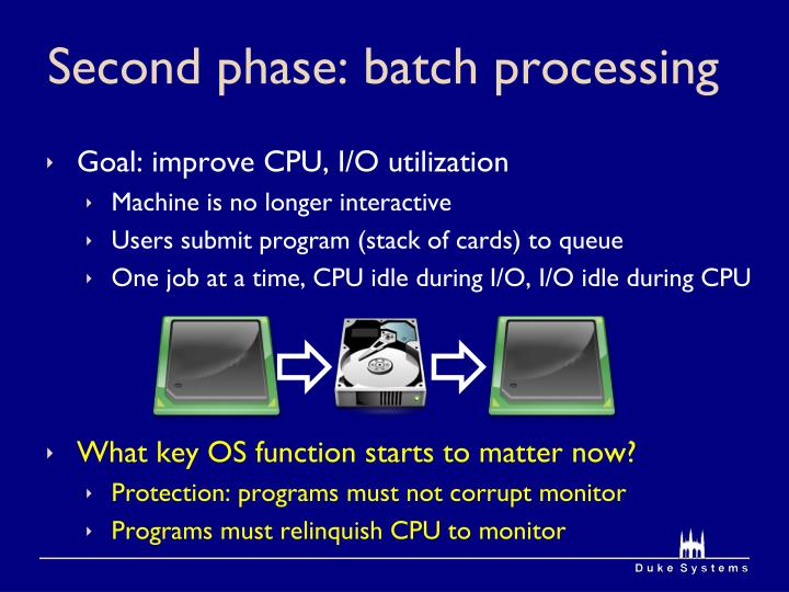 Second phase: batch processing