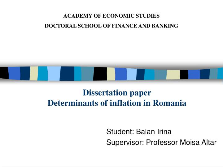 dissertation papers finance Entrust your finance dissertation topics to us here, your finance dissertation is in the right hands.