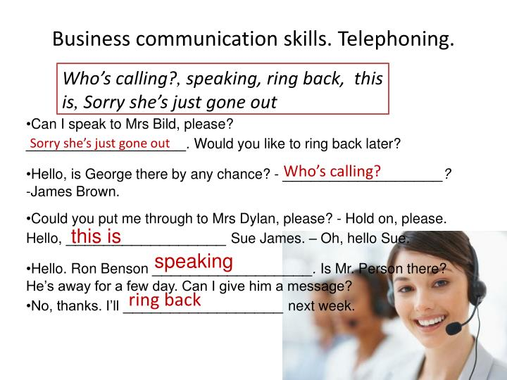 Business communication skills telephoning