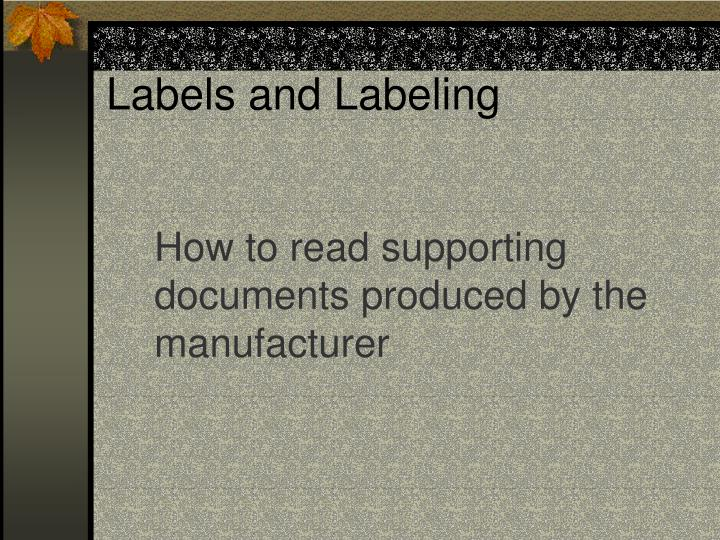 labels and labeling n.