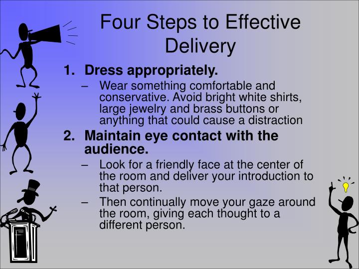 Four Steps to Effective Delivery