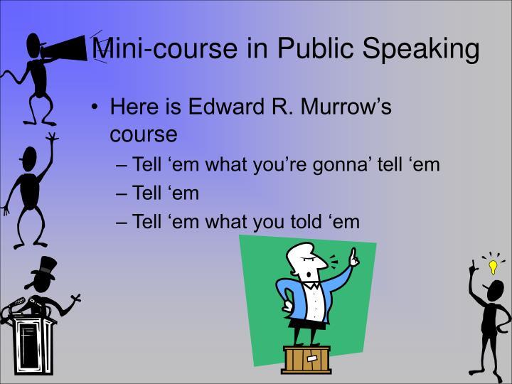 Mini-course in Public Speaking