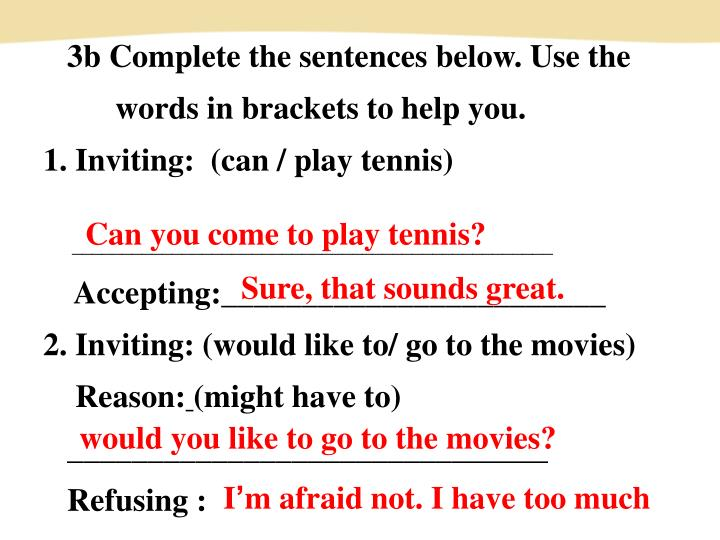 3b Complete the sentences below. Use the