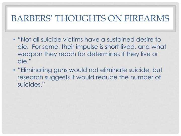 Barbers' Thoughts on firearms