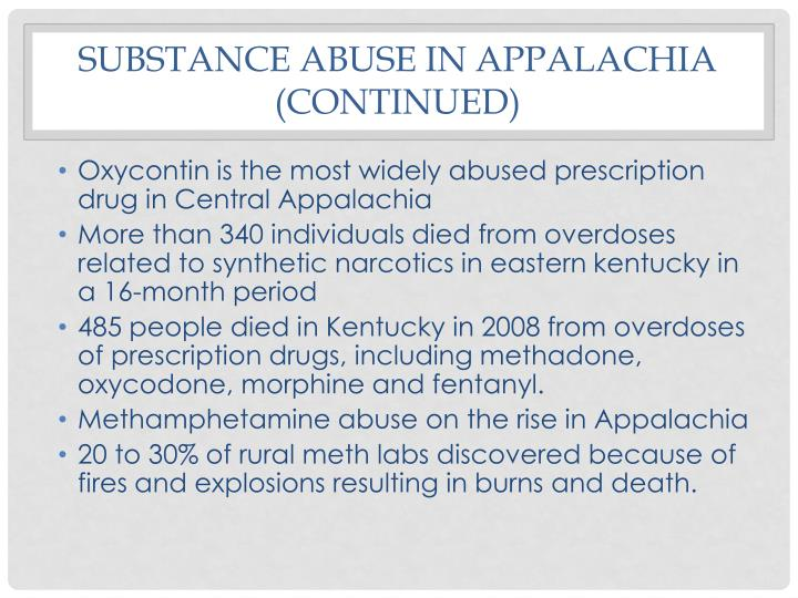 Substance abuse in