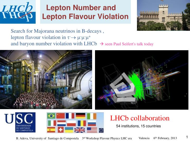 lepton number and lepton flavour violation n.