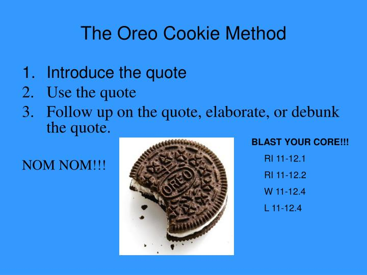 PPT The Oreo Cookie Method PowerPoint Presentation ID