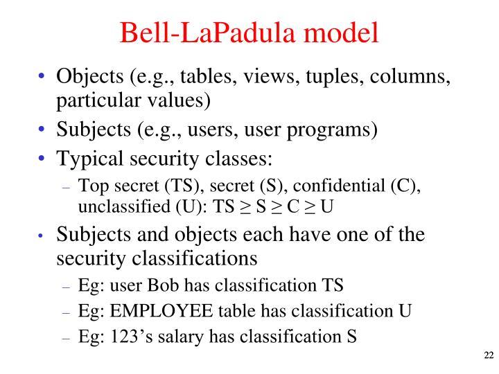 Bell-LaPadula model