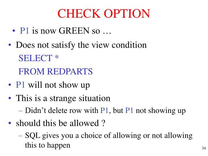 CHECK OPTION