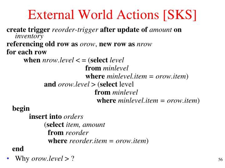 External World Actions [SKS]