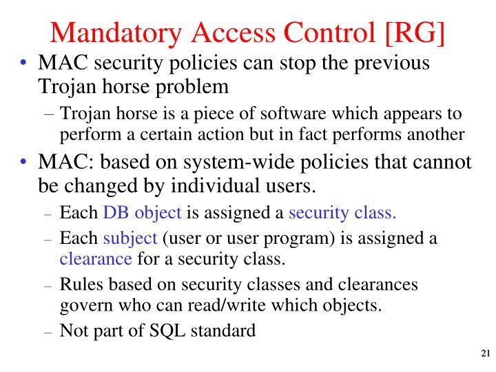Mandatory Access Control [RG]