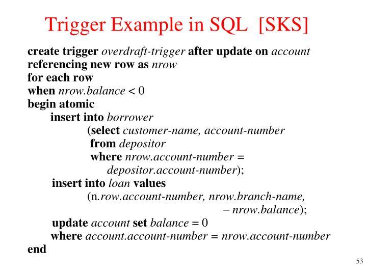 Trigger Example in SQL  [SKS]