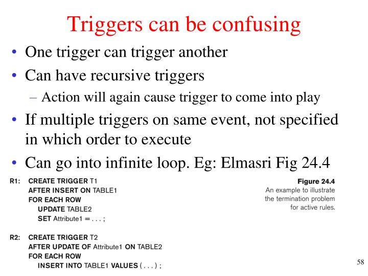 Triggers can be confusing