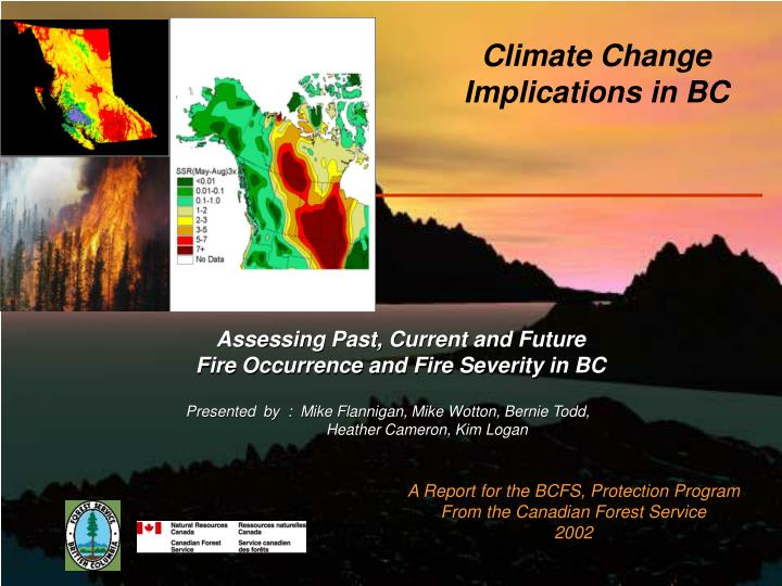 climate change implications in bc n.