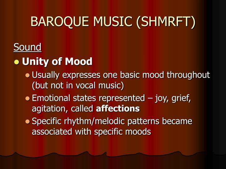 BAROQUE MUSIC (SHMRFT)