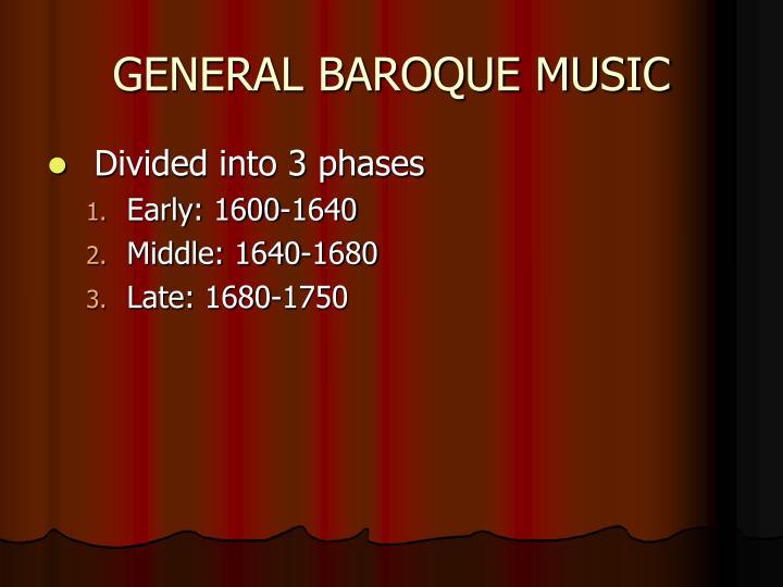 GENERAL BAROQUE MUSIC