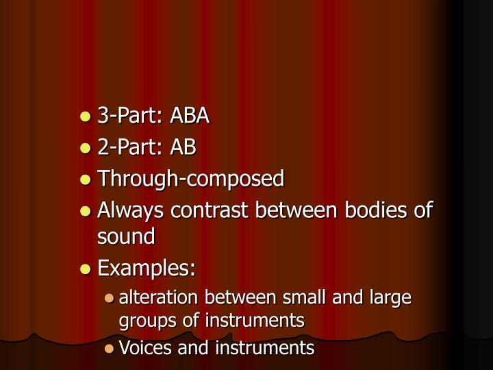 3-Part: ABA