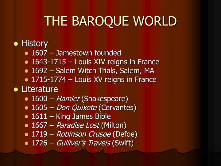 The baroque world