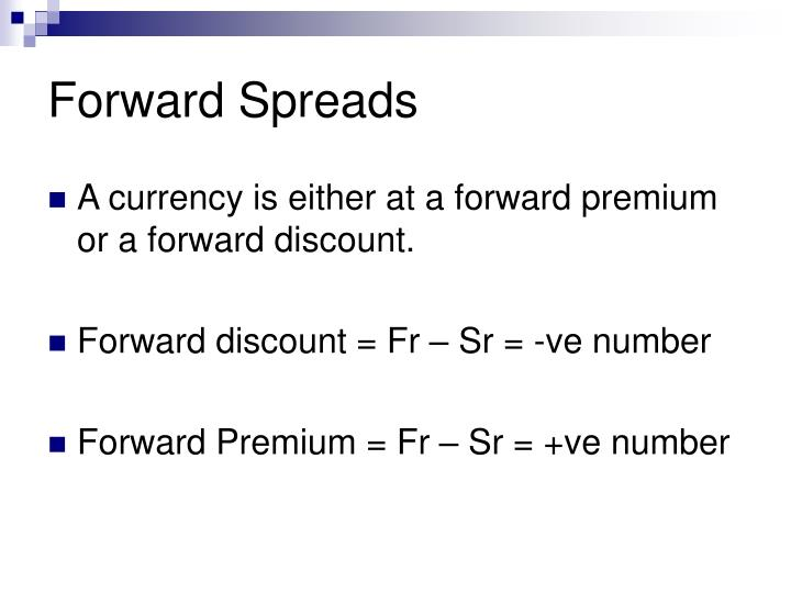 Forward Spreads