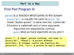first perl program iii