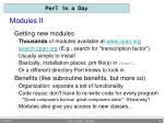 modules ii