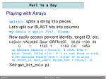 playing with arrays