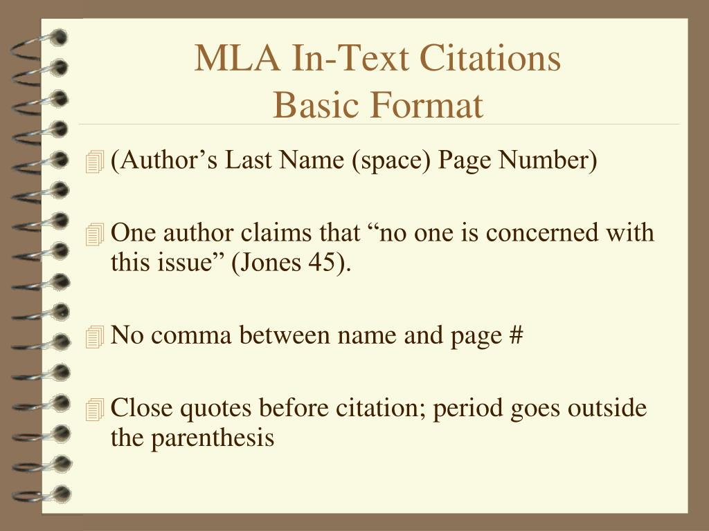 Ppt Mla In Text Citations Powerpoint Presentation Free Download