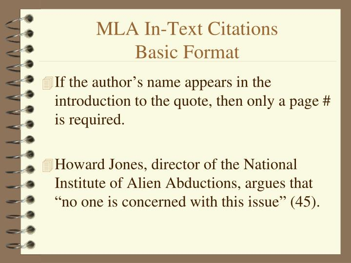 PPT MLA In Text Citations PowerPoint Presentation ID 4625109