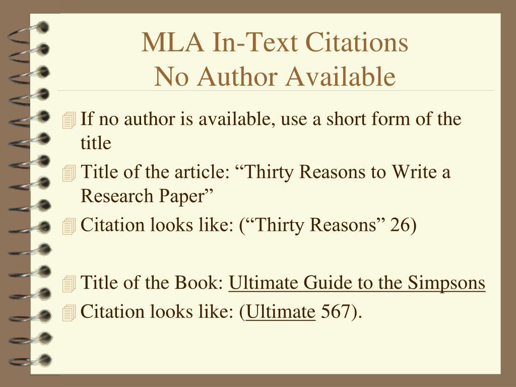 ppt  mla intext citations powerpoint presentation free